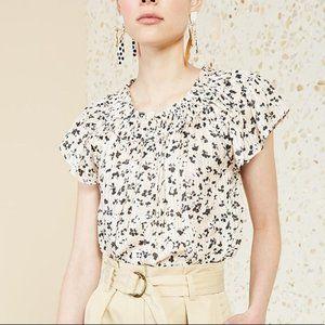 Ulla Johnson Yuri Floral Blush Silk Top Blouse 6